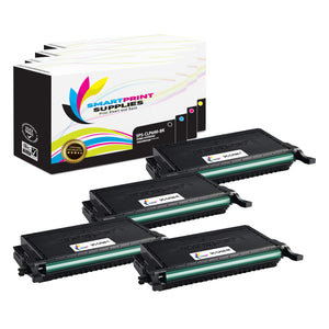 4 Pack Samsung CLP660 4 Colors Toner Cartridge Replacement By Smart Print Supplies