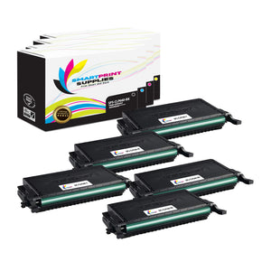 5 Pack Samsung CLP660 4 Colors Toner Cartridge Replacement By Smart Print Supplies