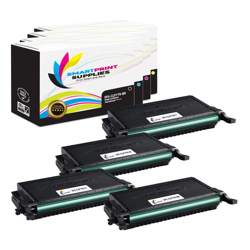 4 Pack Samsung CLT609 4 Colors Toner Cartridge Replacement By Smart Print Supplies