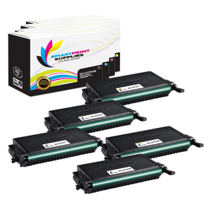 5 Pack Samsung CLT609 4 Colors Toner Cartridge Replacement By Smart Print Supplies