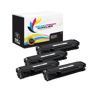 4 Pack Samsung D101S Black Toner Cartridge Replacement By Smart Print Supplies