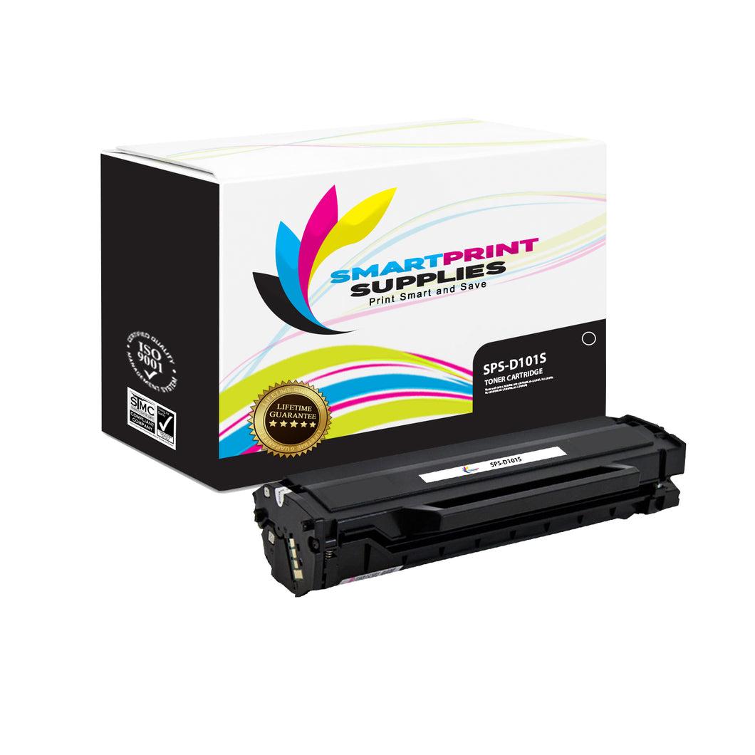 1 Pack Samsung D101S Black Toner Cartridge Replacement By Smart Print Supplies