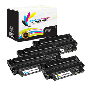 4 Pack Samsung D105L Black High Yield Toner Cartridge Replacement By Smart Print Supplies