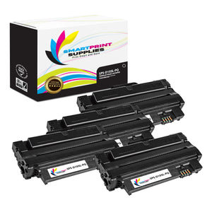 4 Pack Samsung MLTD105L Premium Replacement Black Toner Cartridge by Smart Print Supplies