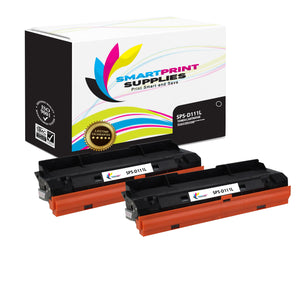 2 Pack Samsung D111L Replacement Black Toner Cartridge by Smart Print Supplies /2100 Pages