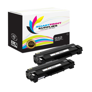 2 Pack Samsung D115L Black High Yield Toner Cartridge Replacement By Smart Print Supplies