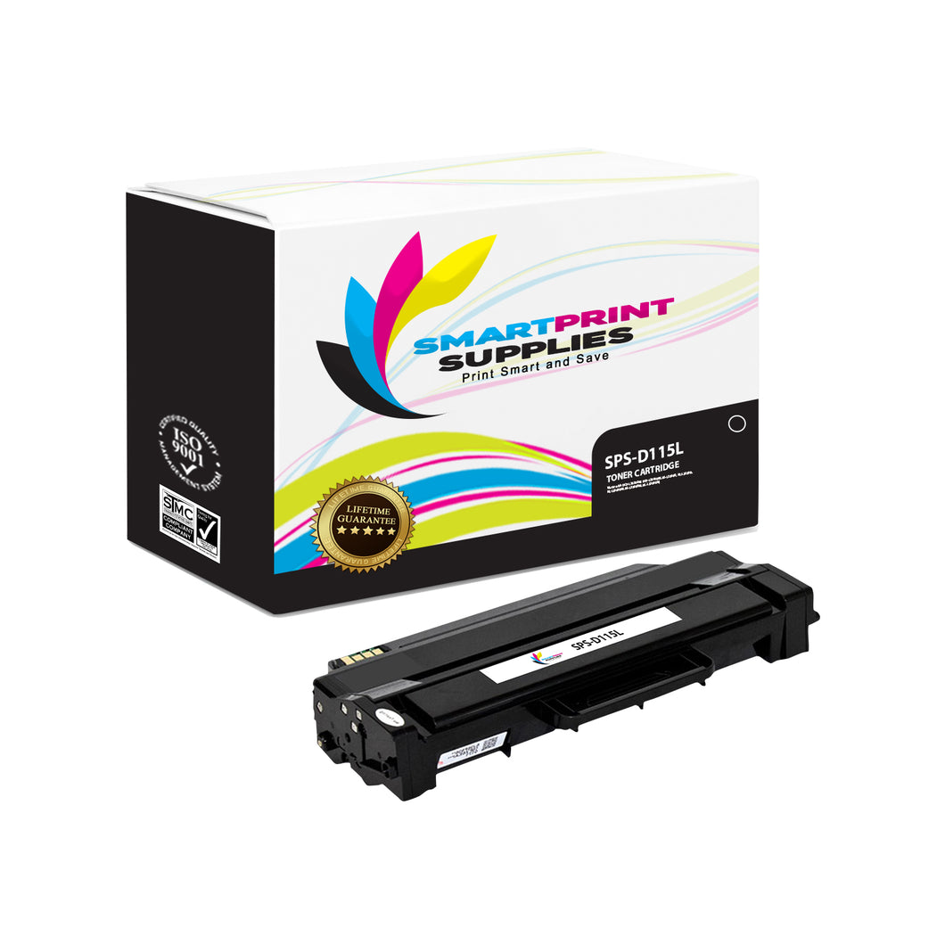 1 Pack Samsung D115L Black High Yield Toner Cartridge Replacement By Smart Print Supplies