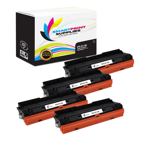 4 Pack Samsung D116L Replacement Black Toner Cartridge by Smart Print Supplies /6900 Pages