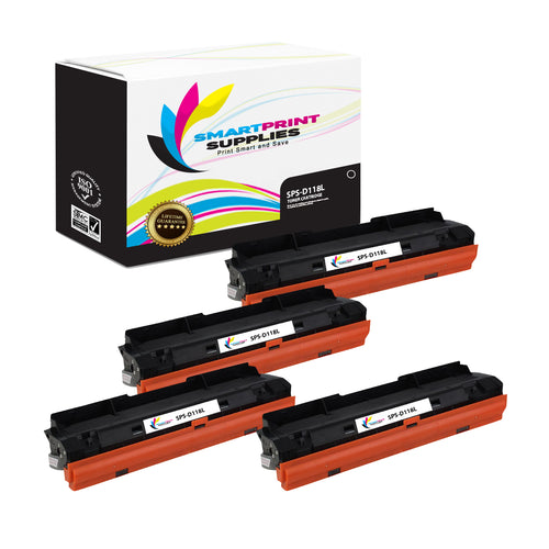 4 Pack Samsung D118L Black High Yield Toner Cartridge Replacement By Smart Print Supplies