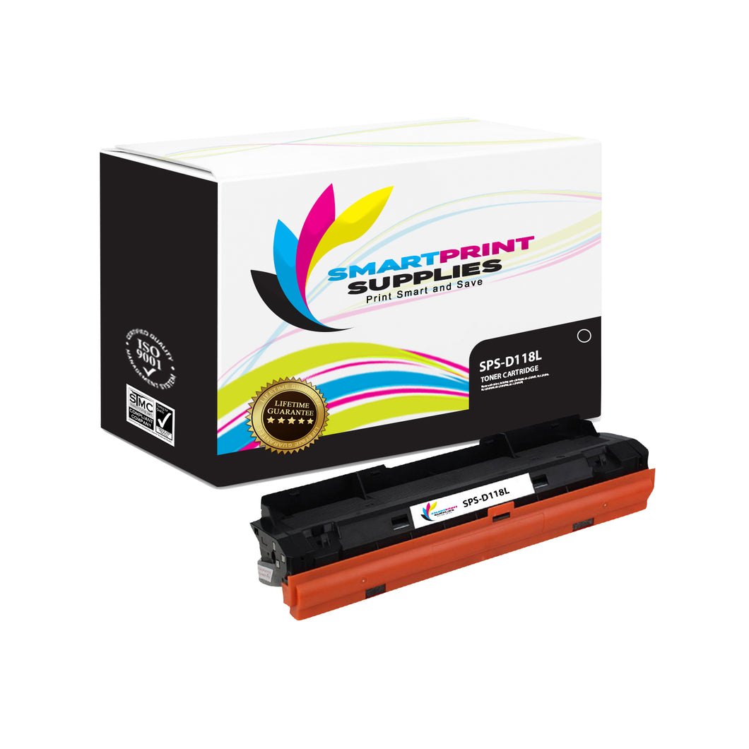 1 Pack Samsung D118L Black High Yield Toner Cartridge Replacement By Smart Print Supplies
