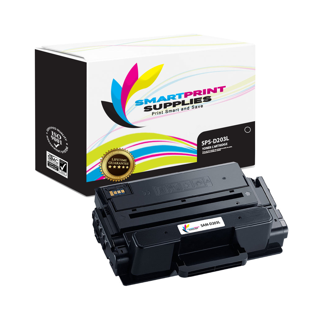 1 Pack Samsung D203L Black High Yield Toner Cartridge Replacement By Smart Print Supplies