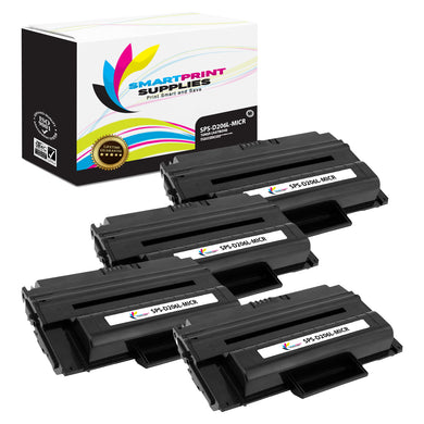 4 Pack Samsung D206L MICR Replacement Black Toner Cartridge by Smart Print Supplies /10000 Pages