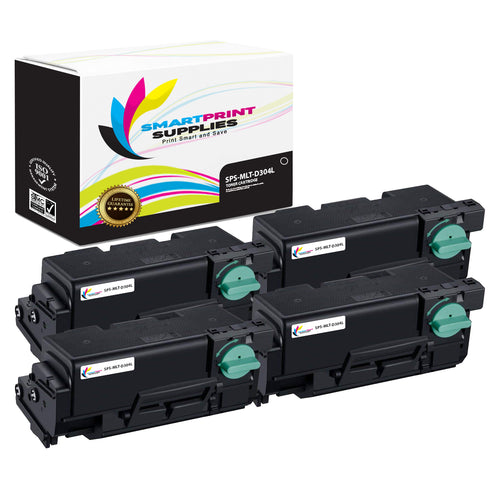 4 Pack Samsung MLT-D304 Black High Yield Toner Cartridge Replacement By Smart Print Supplies