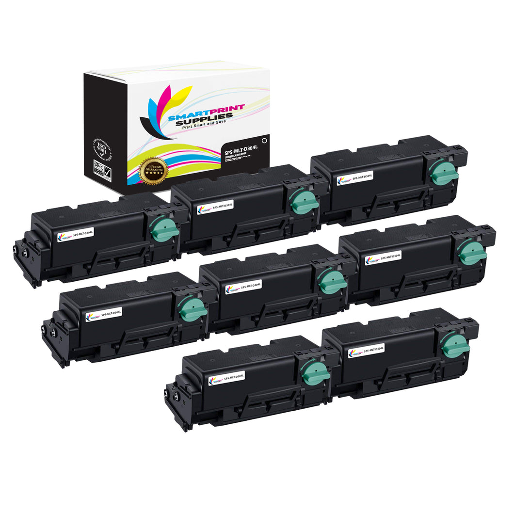 8 Pack Samsung MLT-D304 Black High Yield Toner Cartridge Replacement By Smart Print Supplies