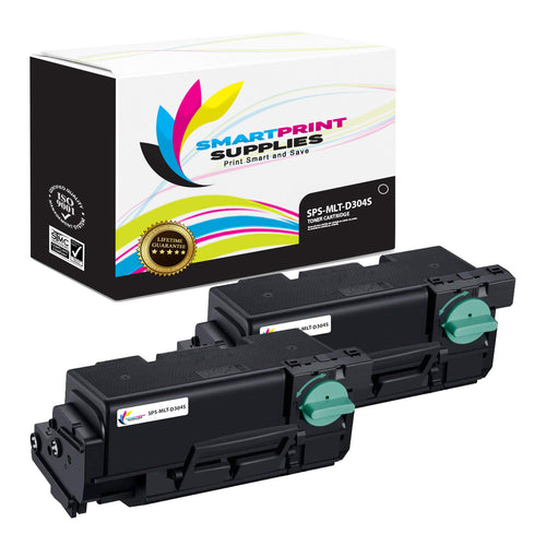 2 Pack Samsung MLT-D304 Black Toner Cartridge Replacement By Smart Print Supplies
