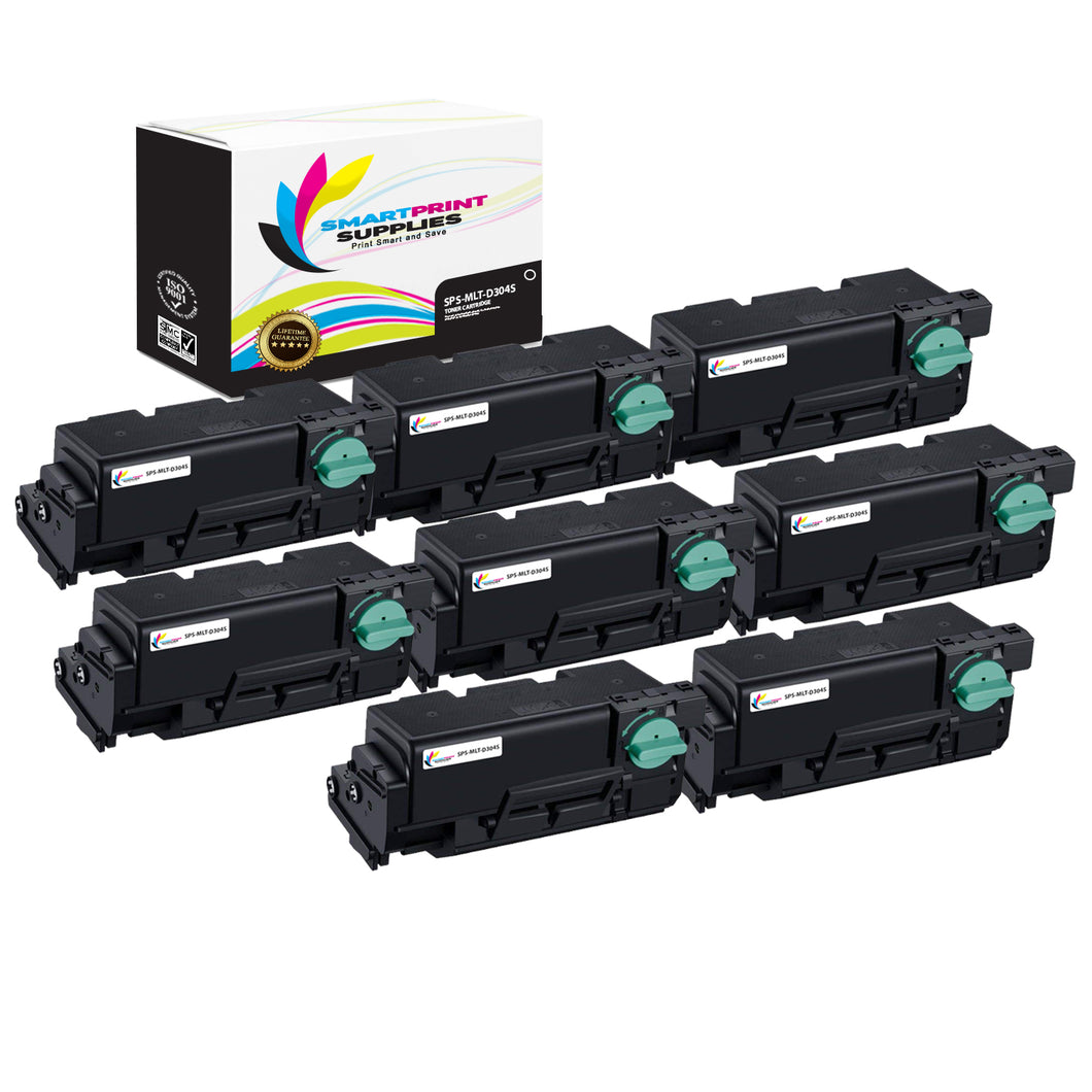 8 Pack Samsung MLT-D304 Black Toner Cartridge Replacement By Smart Print Supplies