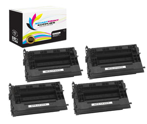 4 Pack HP 37A Black Toner Cartridge Replacement By Smart Print Supplies
