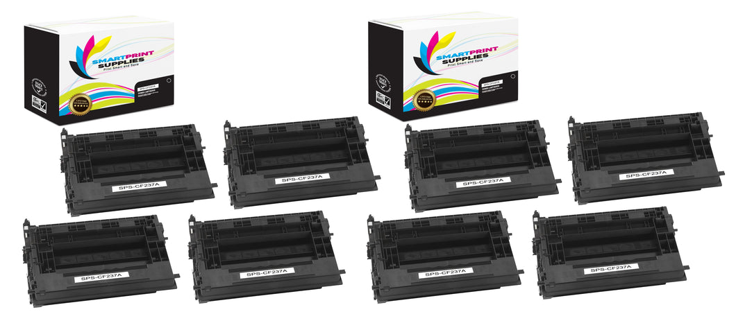 8 Pack HP 37A Black Toner Cartridge Replacement By Smart Print Supplies