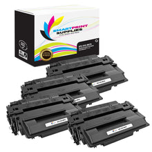 4 Pack HP 55X CE255X Replacement Black High Yield MICR Toner Cartridge by Smart Print Supplies