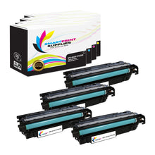 4 Pack HP 653A/653X 4 Colors Toner Cartridge Replacement By Smart Print Supplies
