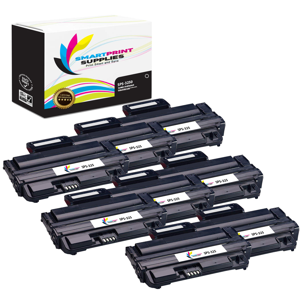 8 Pack Xerox Phaser 3250 Black Toner Cartridge Replacement By Smart Print Supplies