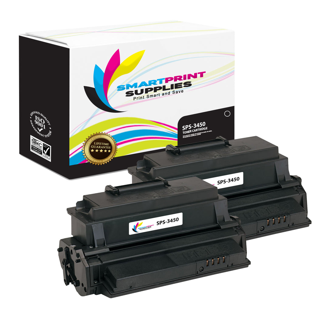 2 Pack Compatible Xerox XE-3450 Black Toner Cartridge Replacement By Smart Print Supplies