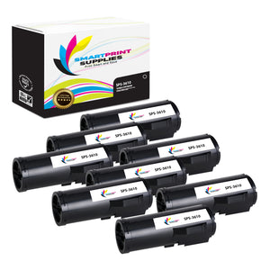 8 Pack Compatible Xerox X3610 Black Toner Cartridge Replacement By Smart Print Supplies