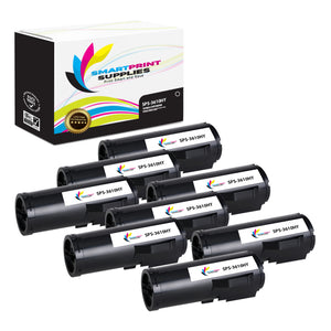 8 Pack Xerox X3610 Black High Yield Toner Cartridge Replacement By Smart Print Supplies