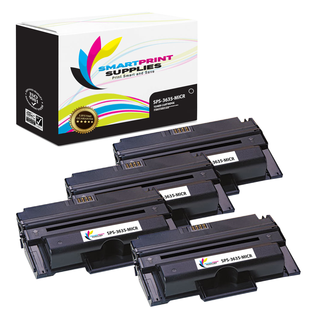 4 Pack Compatible Xerox Phaser 3635 Replacement MICR Toner Cartridge by Smart Print Supplies