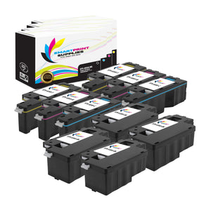 10 Pack Xerox Phaser 6000 4 Colors Toner Cartridge Replacement By Smart Print Supplies