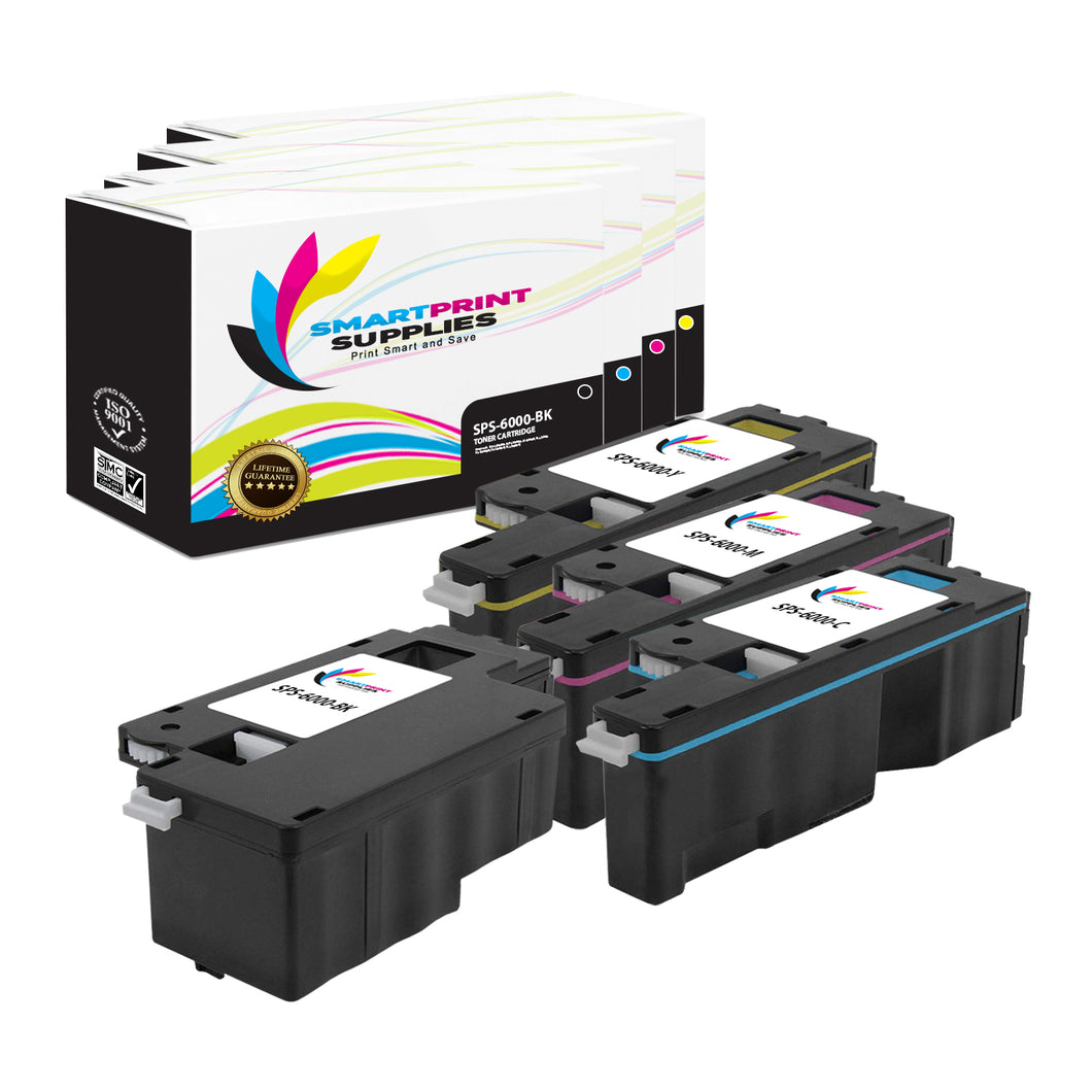4 Pack Compatible Xerox Phaser 6000 4 Colors Toner Cartridge Replacement By Smart Print Supplies