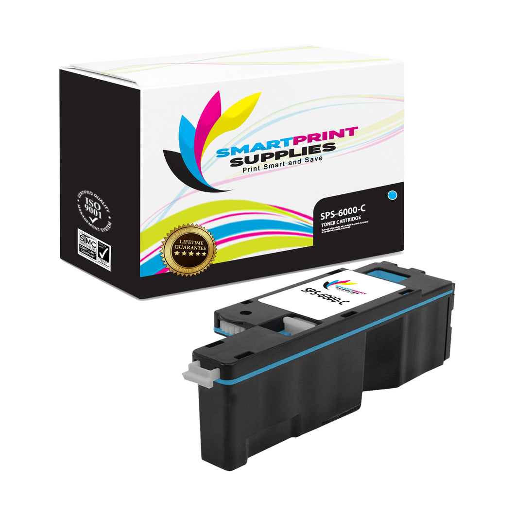 1 Pack Compatible Xerox Phaser 6000 Cyan Toner Cartridge Replacement By Smart Print Supplies