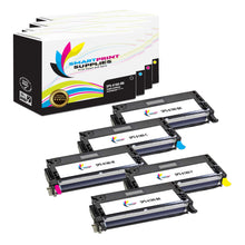 5 Pack Xerox Phaser 6180 4 Colors High Yield Toner Cartridge Replacement By Smart Print Supplies