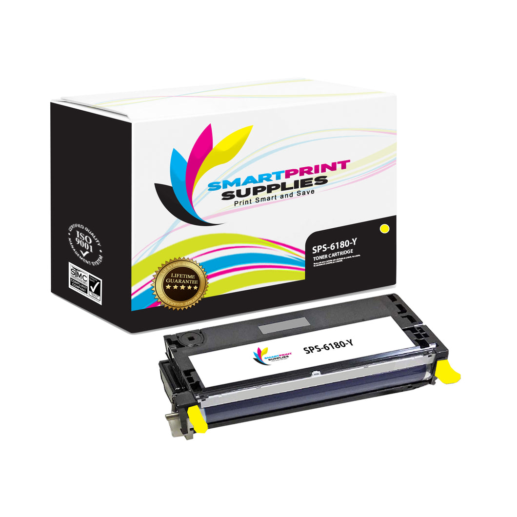 1 Pack Xerox Phaser 6180 Yellow High Yield Toner Cartridge Replacement By Smart Print Supplies