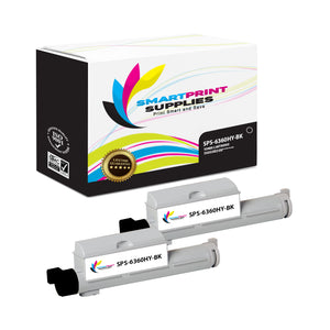 2 Pack Xerox Phaser 6360 Black High Yield Toner Cartridge Replacement By Smart Print Supplies