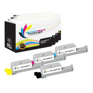 4 Pack Compatible Xerox Phaser 6360 4 Colors High Yield Toner Cartridge Replacement By Smart Print Supplies