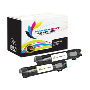 2 Pack Compatible Xerox Phaser 6700 Black Toner Cartridge Replacement By Smart Print Supplies