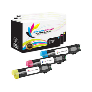 3 Pack Compatible Xerox Phaser 6700 3 Colors Toner Cartridge Replacement By Smart Print Supplies