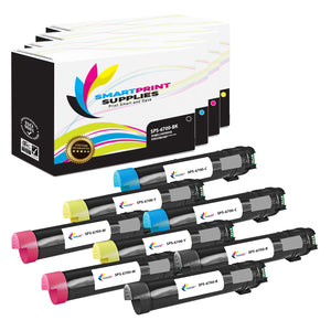 8 Pack Compatible Xerox Phaser 6700 4 Colors Toner Cartridge Replacement By Smart Print Supplies