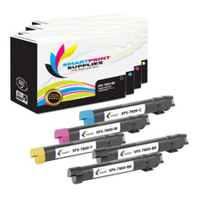 5 Pack Xerox Phaser 7800 4 Colors Toner Cartridge Replacement By Smart Print Supplies