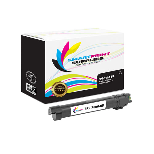 1 Pack Xerox Phaser 7800 Black Toner Cartridge Replacement By Smart Print Supplies