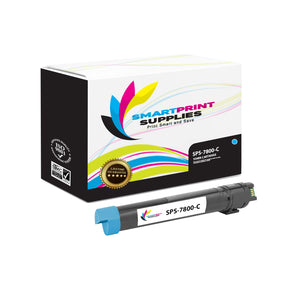 1 Pack Xerox Phaser 7800 Cyan Toner Cartridge Replacement By Smart Print Supplies