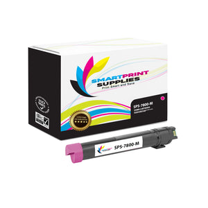 1 Pack Xerox Phaser 7800 Magenta Toner Cartridge Replacement By Smart Print Supplies