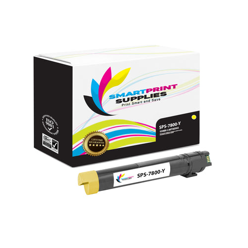 1 Pack Compatible Xerox Phaser 7800 Yellow Toner Cartridge Replacement By Smart Print Supplies