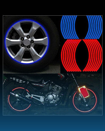 "Reflective Rim Tape Decal for 14"" 17"" 18"" (16Pcs)"