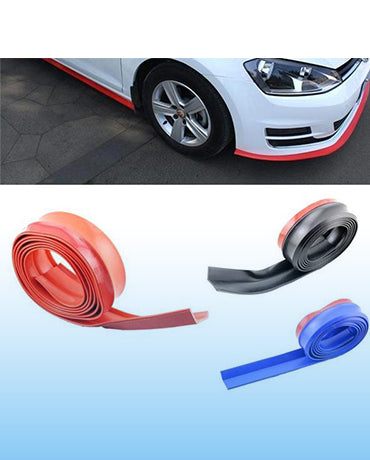 Soft Rubber Carbon Fiber Bumper Lip
