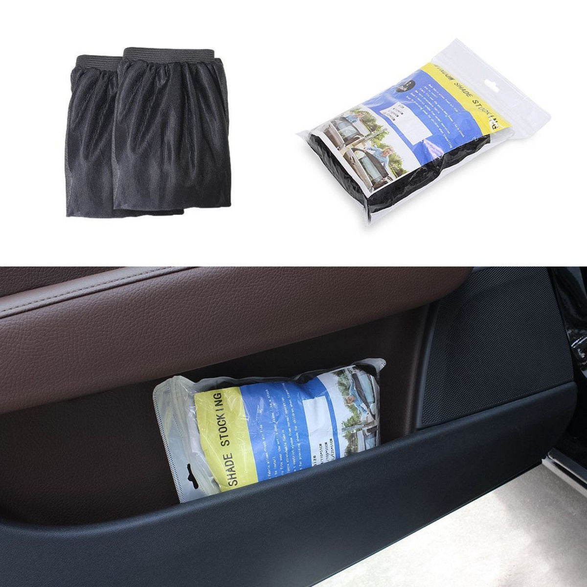 2Pcs/Pack Car-Styling Car Sun Shade Window Cover Sunshade Curtain UV Protection Shield Visor Mesh Dust Car Window Mesh Hot Sale