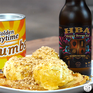 Beer Battered Waffles with Golden Gaytime Crumbs