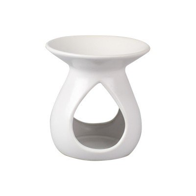 Ceramic Oil Burner Matt White - Luxora