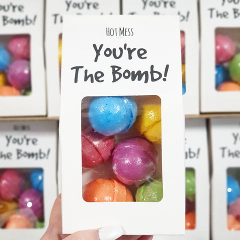 SOLD OUT - You're the BOMB! - Mini Bath Bomb 6 Pack - Hot Mess Body
